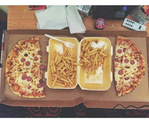 pizza, chips, and tumblr image