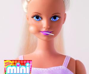 barbie, chupa chups, and lollipop image