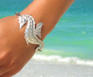 beach, bracelet, and girl image