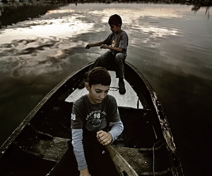 boat and kid image