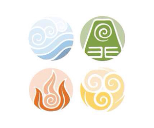 avatar the last airbender, fire bender, and water bender image