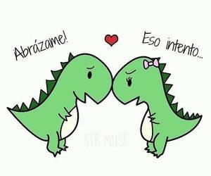 love, dinosaur, and hug image