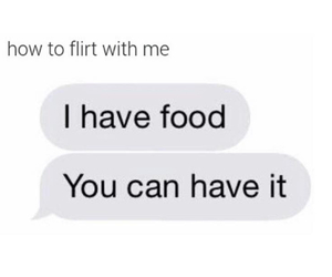 food, flirt, and funny image