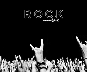 black, music, and rock image