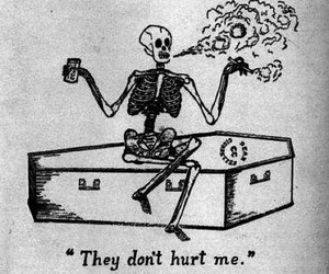 skeleton, smoke, and black and white image