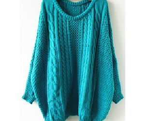 blue, fashion, and sweater image