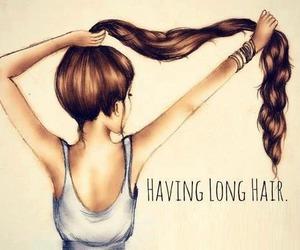 beautiful, drawing, and long hair image