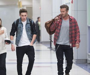 David Beckham and brooklyn beckham image