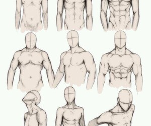 body, drawing, and naked image