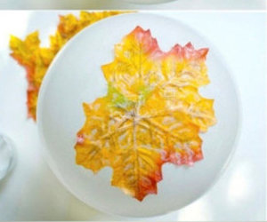 diy, bowl, and leaves image