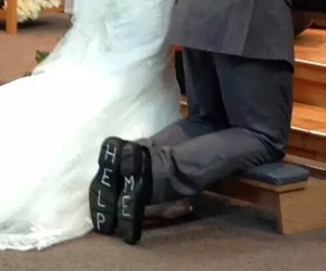 funny, weddings, and arrangement wedding image