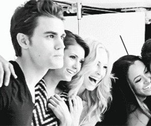 Nina Dobrev, paul wesley, and candice accola image