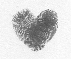love, heart, and fingerprint image