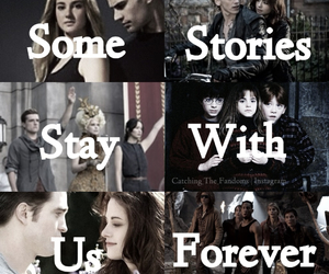 twilight, divergent, and harry potter image