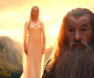 hobbit, gandalf, and galadriel image