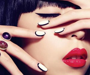 nails, nail art, and makeup image