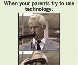 parents, funny, and technology image
