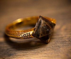 harry potter, ring, and deathly hallows image