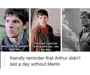 merlin, arthur pendragon, and merthur image