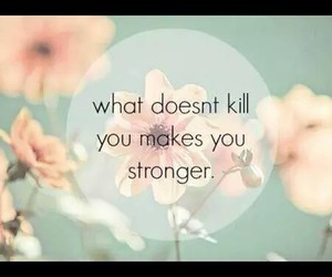 strong, flowers, and quote image