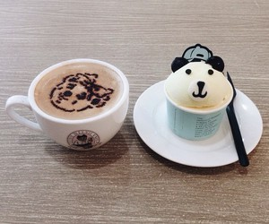 coffee, cup, and ice cream image