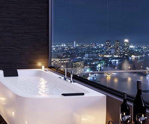 luxury, city, and bathroom image