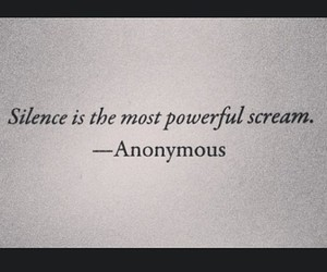 quote, text, and silence image