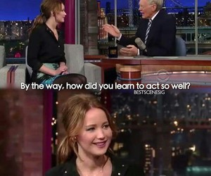 funny, Jennifer Lawrence, and interview image