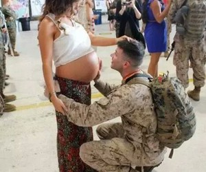 love, couple, and pregnant image
