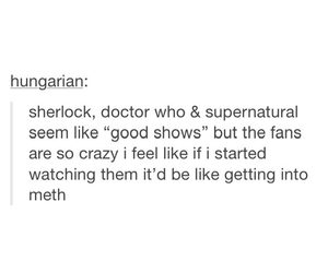 doctor who, sherlock, and supernatural image