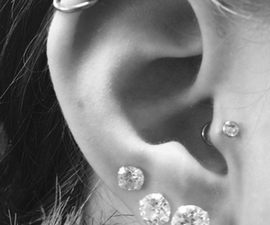 piercing, tragus, and ear image