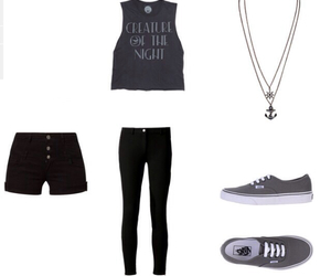 black jeans, outfit, and vans image