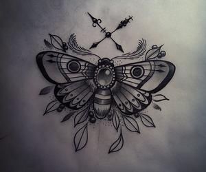 animal, drawing, and tats image