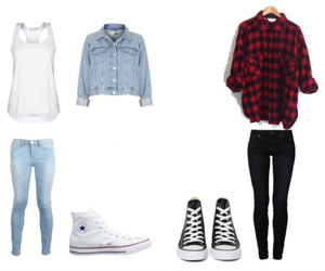 converse, jeans, and outfits image