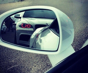 bmw, car, and mirror image