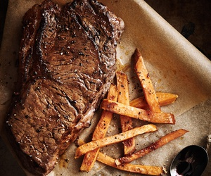 food, meat, and chips image