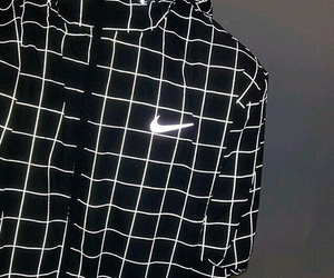 nike, black, and black and white image