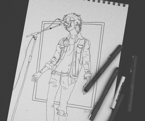 band, drawing, and indie image