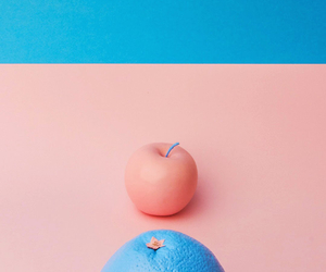 aesthetic, blue, and fruit image