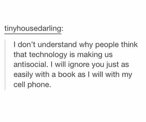 books, antisocial, and ignore image