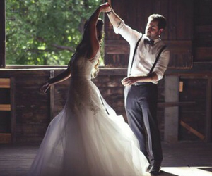 beautiful, bride, and dance image