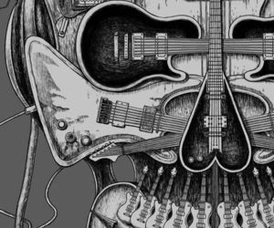 music, guitar, and rock image