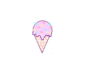 ice cream, overlay, and pastel image