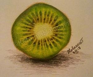 art, artist, and fruit image