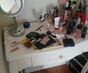cosmetics, happy, and makeup image