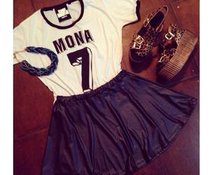 fashion, outfit, and mona image