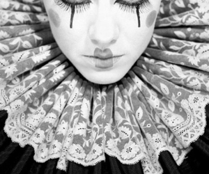 clown and black and white image