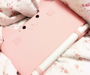 pink, kawaii, and cat image