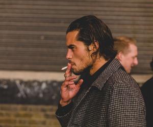 boy, smokin, and smoking image