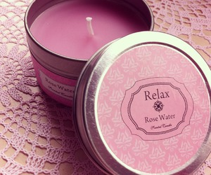 candle, pink, and relax image